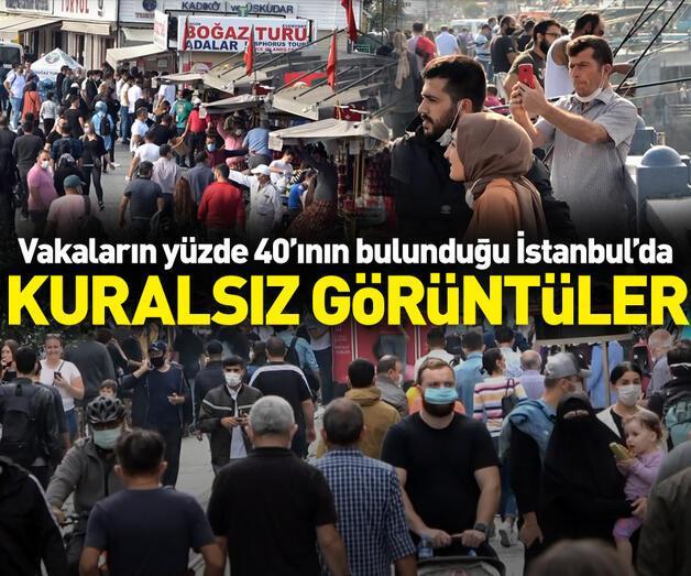 Son dakika: İstanbul'dan kuralsız görüntüler