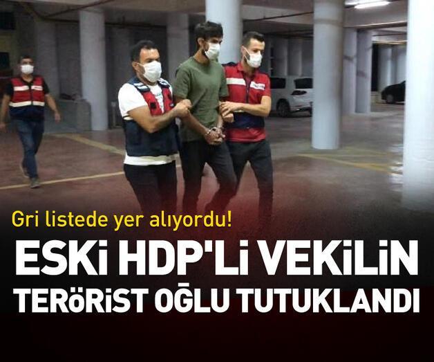 Son dakika: Eski HDP'li vekilin terörist oğlu tutuklandı
