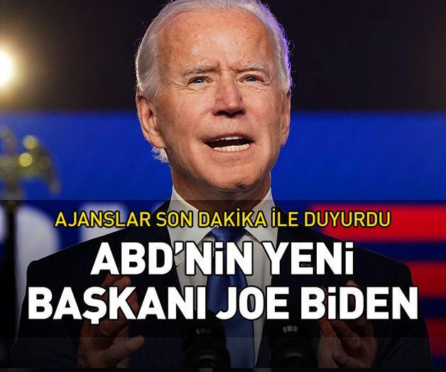 Son dakika: Joe Biden ABD'nin yeni başkanı oldu