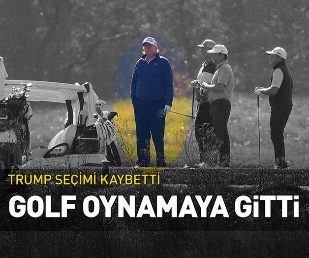 Son dakika: Trump seçimi kaybetti, golf oynamaya gitti