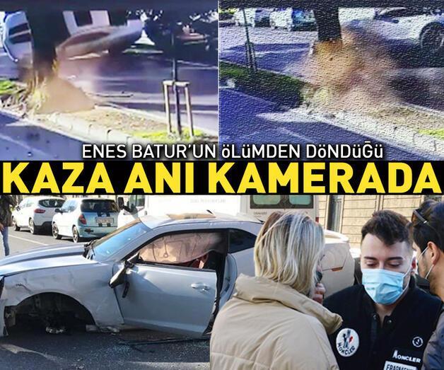 Son dakika: Enes Batur'un ölümden döndüğü kaza anı kamerada