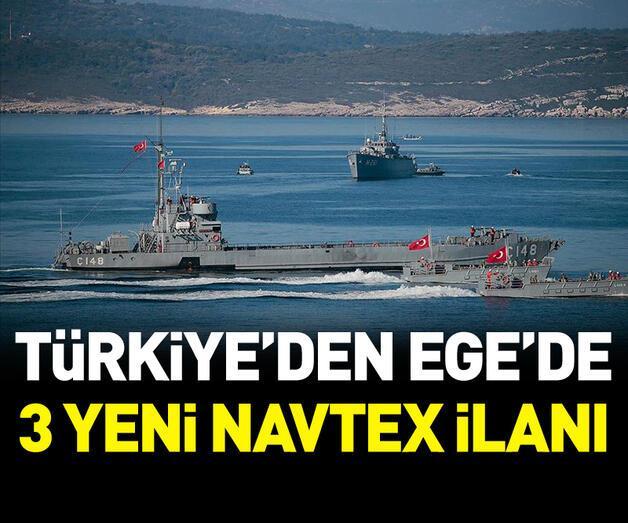 Son dakika: Türkiye'den Ege'de 3 yeni NAVTEX kararı