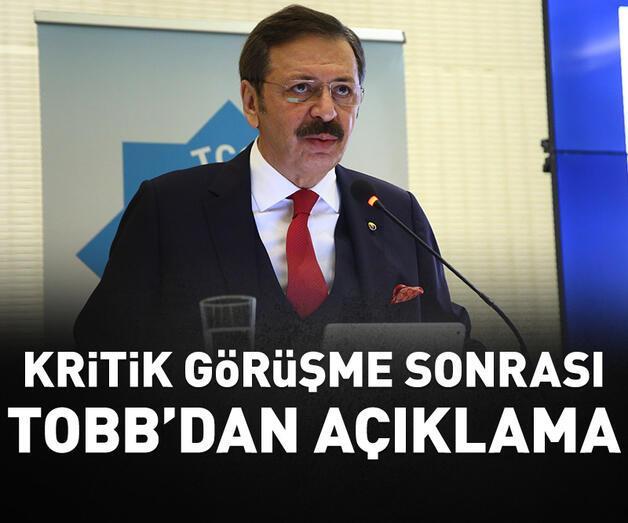 Son dakika: TOBB Başkanı Hisarcıklıoğlu'ndan açıklama