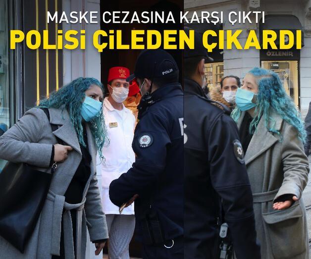 Son dakika: Maske cezasına itiraz etti, polisi çileden çıkardı