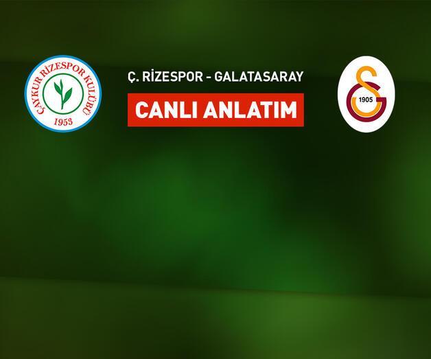 Son dakika: Galatasaray Rize deplasmanında!