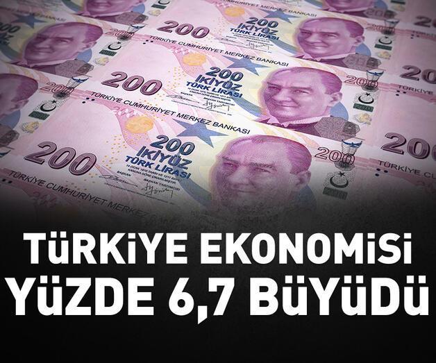 Son dakika: Türkiye ekonomisi yılın üçüncü çeyreğinde yüzde 6,7 büyüdü