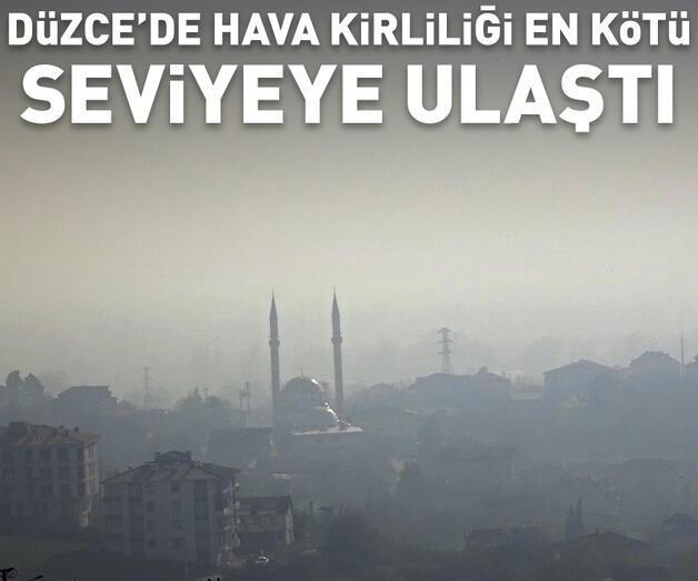 Son dakika: Düzce'de hava kirliliği, en kötü seviyeye ulaştı