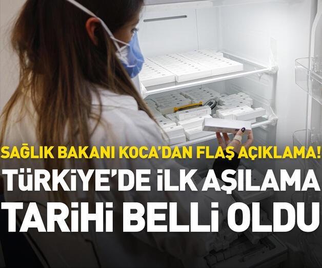 Son dakika: Türkiye'de ilk aşılama tarihi belli oldu