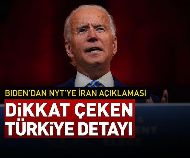 Son dakika: Joe Biden'ın İran açıklamasında 'Türkiye' detayı