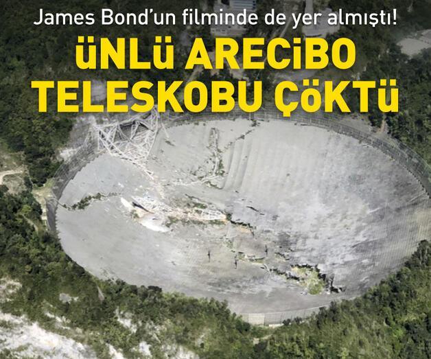 Son dakika: Porto Riko'da ünlü Arecibo teleskobu çöktü
