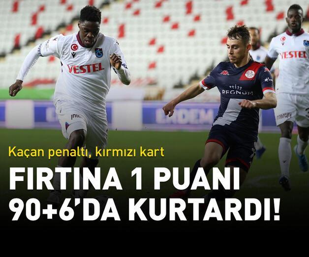 Son dakika: Trabzonspor 90+6'da puanı kaptı!