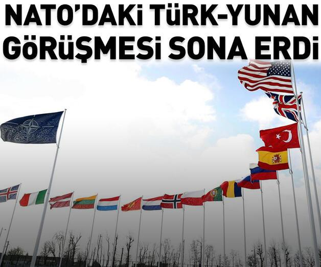 Son dakika: NATO'da Türk-Yunan görüşmesi başladı