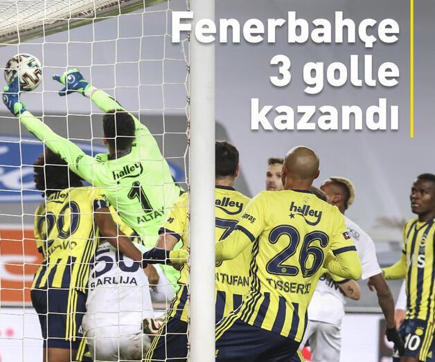 Son dakika: Fenerbahçe 3 golle kazandı