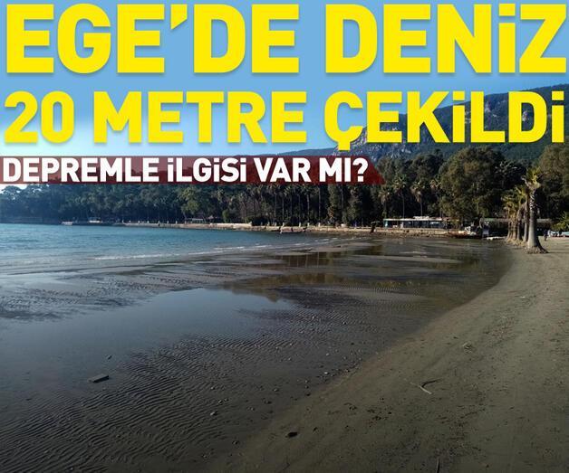 Son dakika: Deniz 20 metre çekildi...