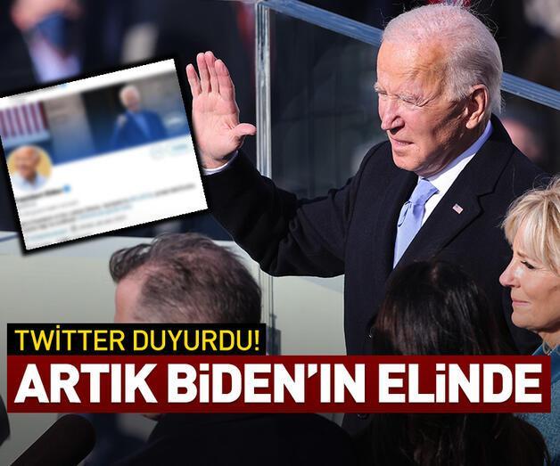 Son dakika: Twitter, ABD başkanlık hesabını Biden'a devretti