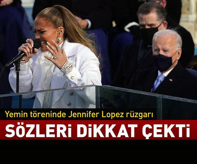 Son dakika: Yemin töreninde Jennifer Lopez rüzgarı!