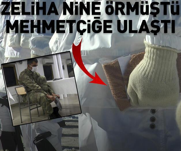 Son dakika: Zeliha ninenin ördüğü çoraplar Mehmetçiğe ulaştı