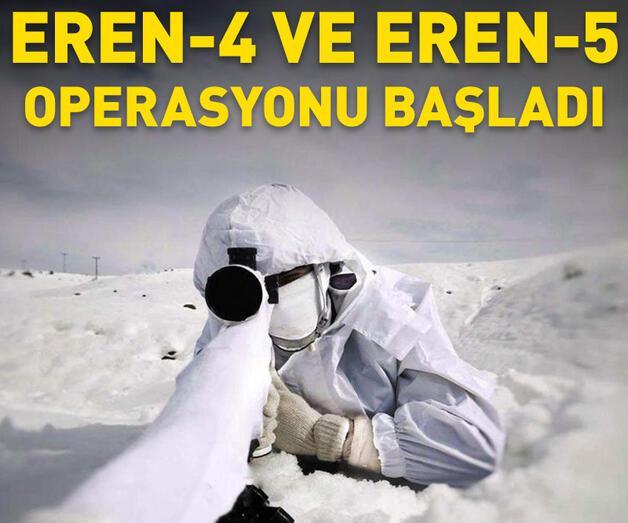 """Son dakika: """"Eren-4 Karlıova-Varto"""" ve """"Eren-5 Bagok operasyonları başlatıldı"""