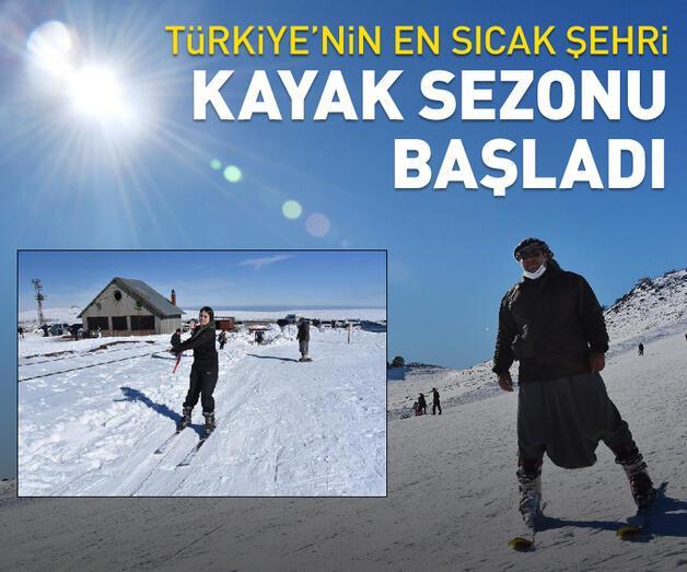 Son dakika: Türkiye'nin en sıcak şehrinde kayak sezonu başladı
