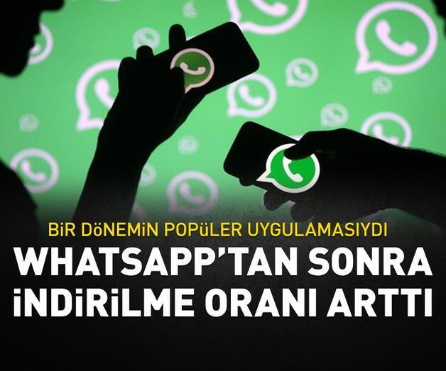 Son dakika: WhatsApp'tan sonra indirilme oranı 35 kat arttı!