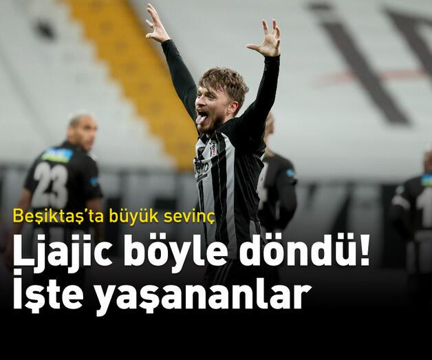 Son dakika: Beşiktaş'ta Ljajic sevinci! 'Hayata döndü'