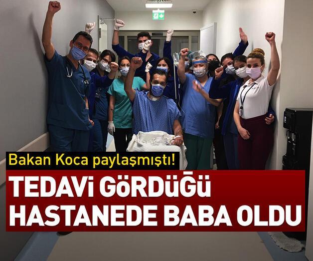 Son dakika: Tedavi gördüğü hastanede baba oldu