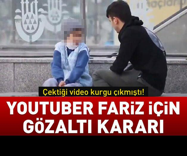 Son dakika: Youtuber Fariz hakkında gözaltı kararı