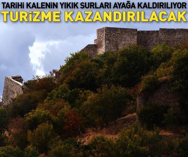 Son dakika: Tarihi Niksar Kalesi'nin yıkık surları ayağa kaldırılıyor!