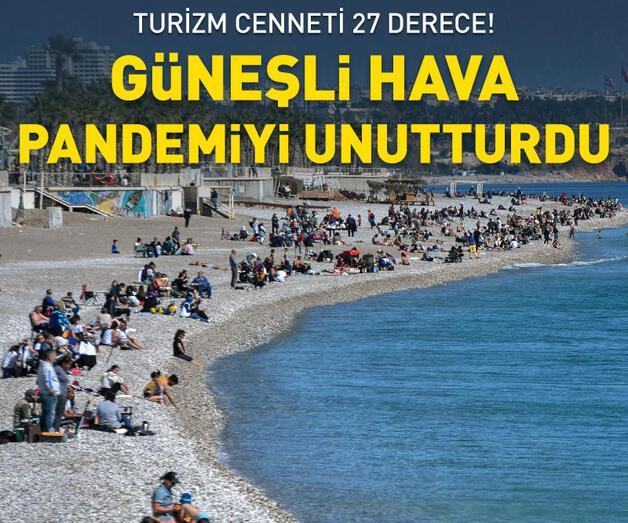 Son dakika: Antalya 27 derece! Güneşi gören denize koştu