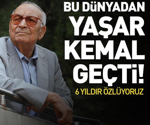Son dakika: Yazar Yaşar Kemal vefatının 6. yılında anıldı