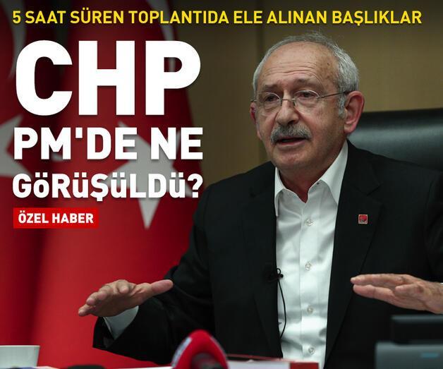 Son dakika: CHP PM'de ne görüşüldü?