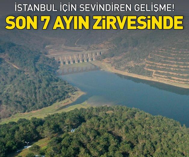 Son dakika: İstanbul barajlarında doluluk 7 ayın zirvesinde