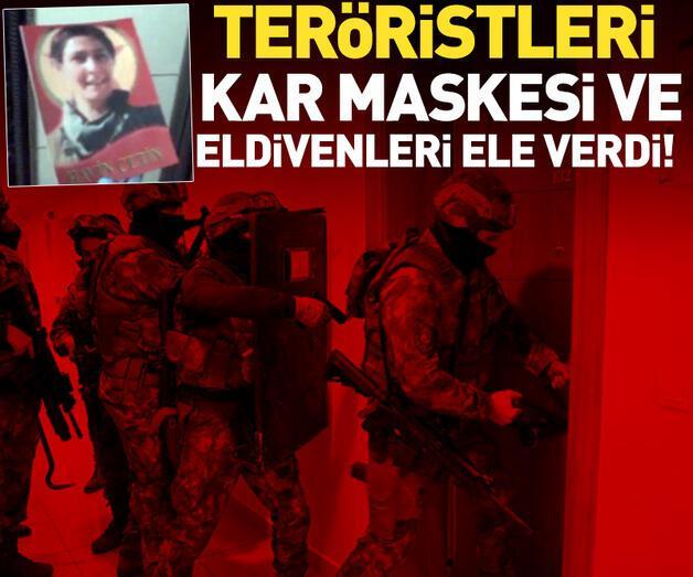 Son dakika: Teröristleri kar maskesi ve eldiven ele verdi