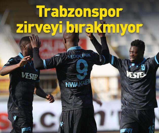 Son dakika: Trabzonspor zirveyi bırakmıyor