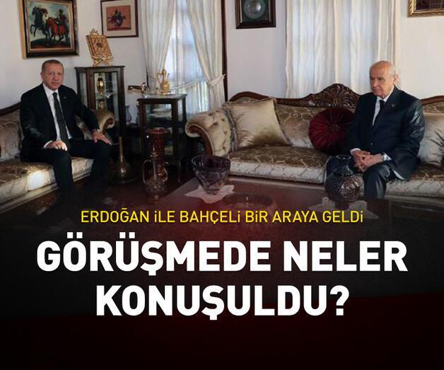 Son dakika: Erdoğan ile Bahçeli'nin sürpriz görüşmesinde gündem neydi?
