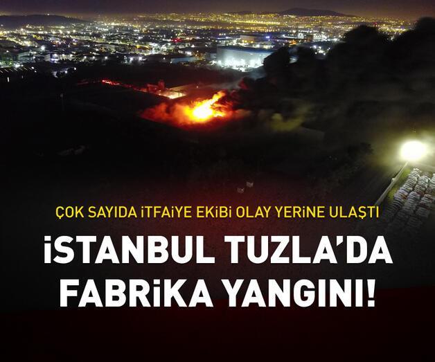 Son dakika: Tuzla'da et üretim tesisinde yangın