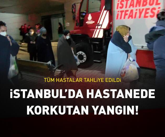 Son dakika: İstanbul'da Zeynep Kamil Hastanesi'nde yangın