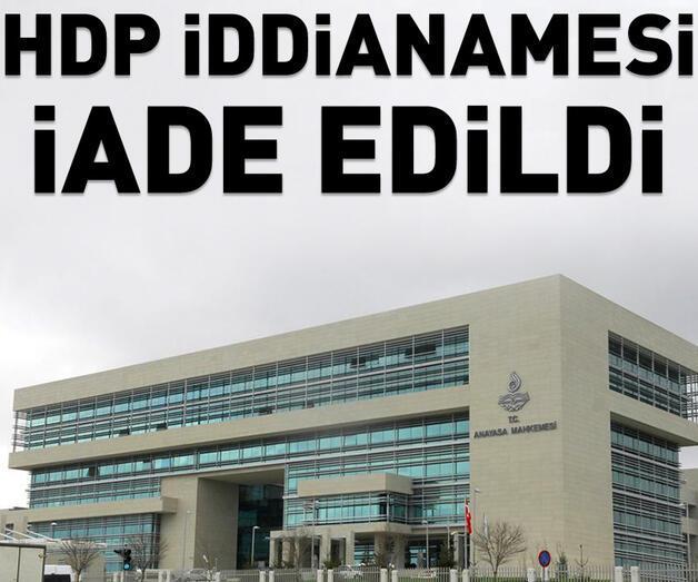 Son dakika: AYM, HDP'nin kapatılmasına ilişkin iddianameyi iade etti