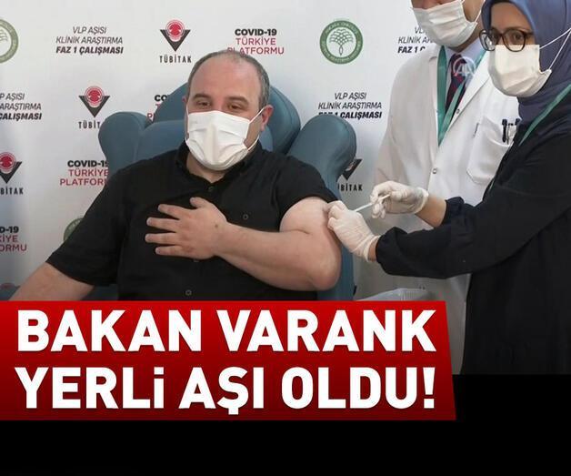 Son dakika: Bakan Varank yerli aşı oldu!