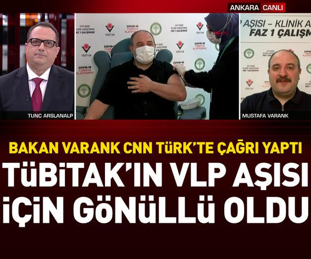 Son dakika: Yerli aşı olan Bakan Varank CNN Türk'te