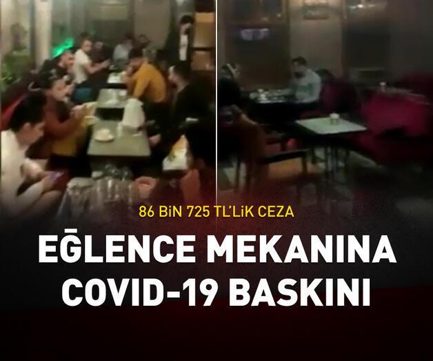 Son dakika: İstanbul'da eğlence mekanına koronavirüs baskını