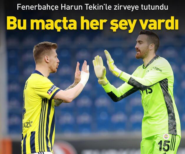 Son dakika: Fenerbahçe Harun Tekin'le zirveye tutundu