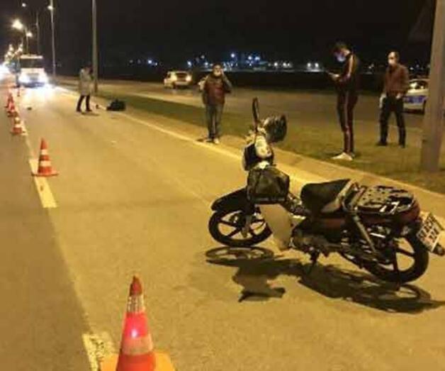 Son dakika: Devrilen motosikletin sürücüsü öldü