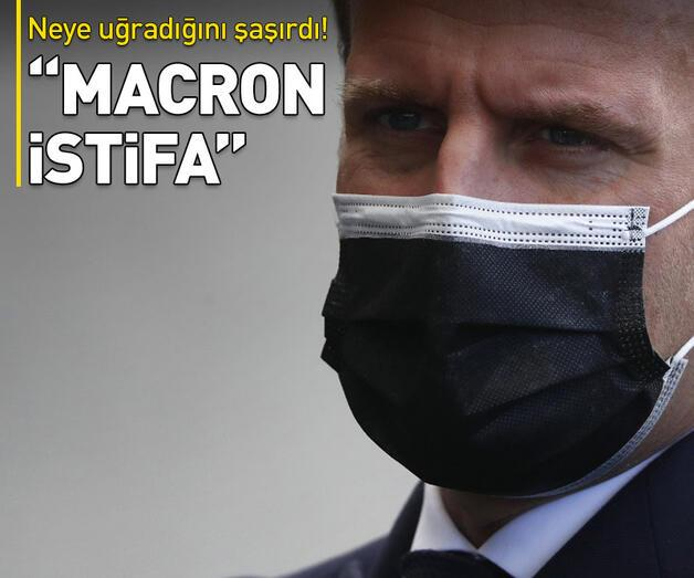 """Son dakika: Neye uğradığını şaşırdı! """"Macron istifa"""""""