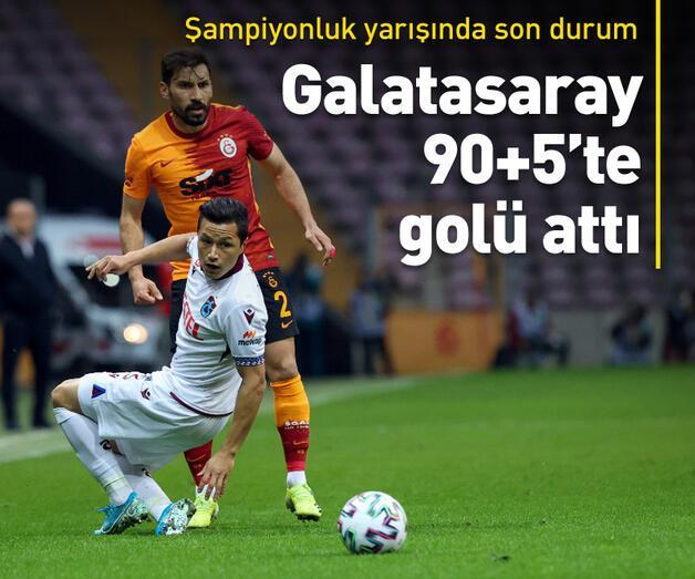 Son dakika: Galatasaray 90+5'te puanı kurtardı