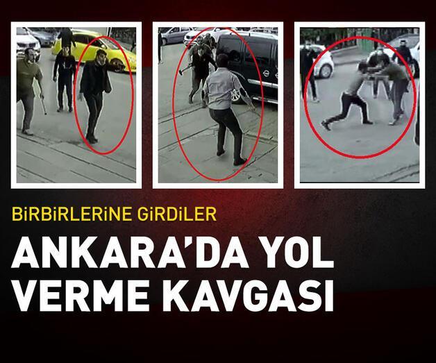 Son dakika: Ankara'da 'yol verme' kavgası