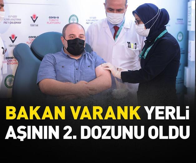 Son dakika: Bakan Varank yerli aşının 2.dozunu oldu