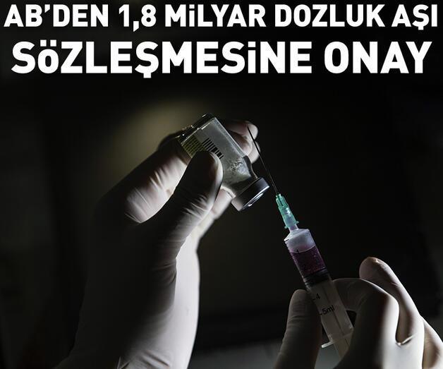 Son dakika: AB'den BioNTech-Pfizer ile 1,8 milyar dozluk aşı sözleşmesine onay