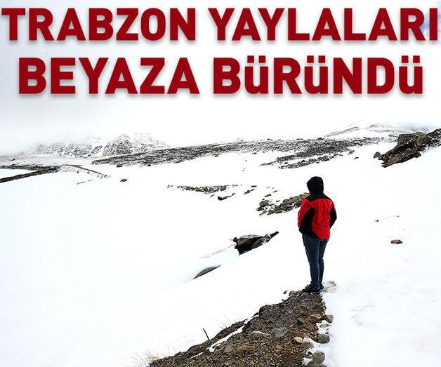 Son dakika: Trabzon yaylaları beyaza büründü