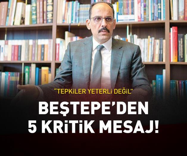 Son dakika: Beştepe'den 5 kritik mesaj